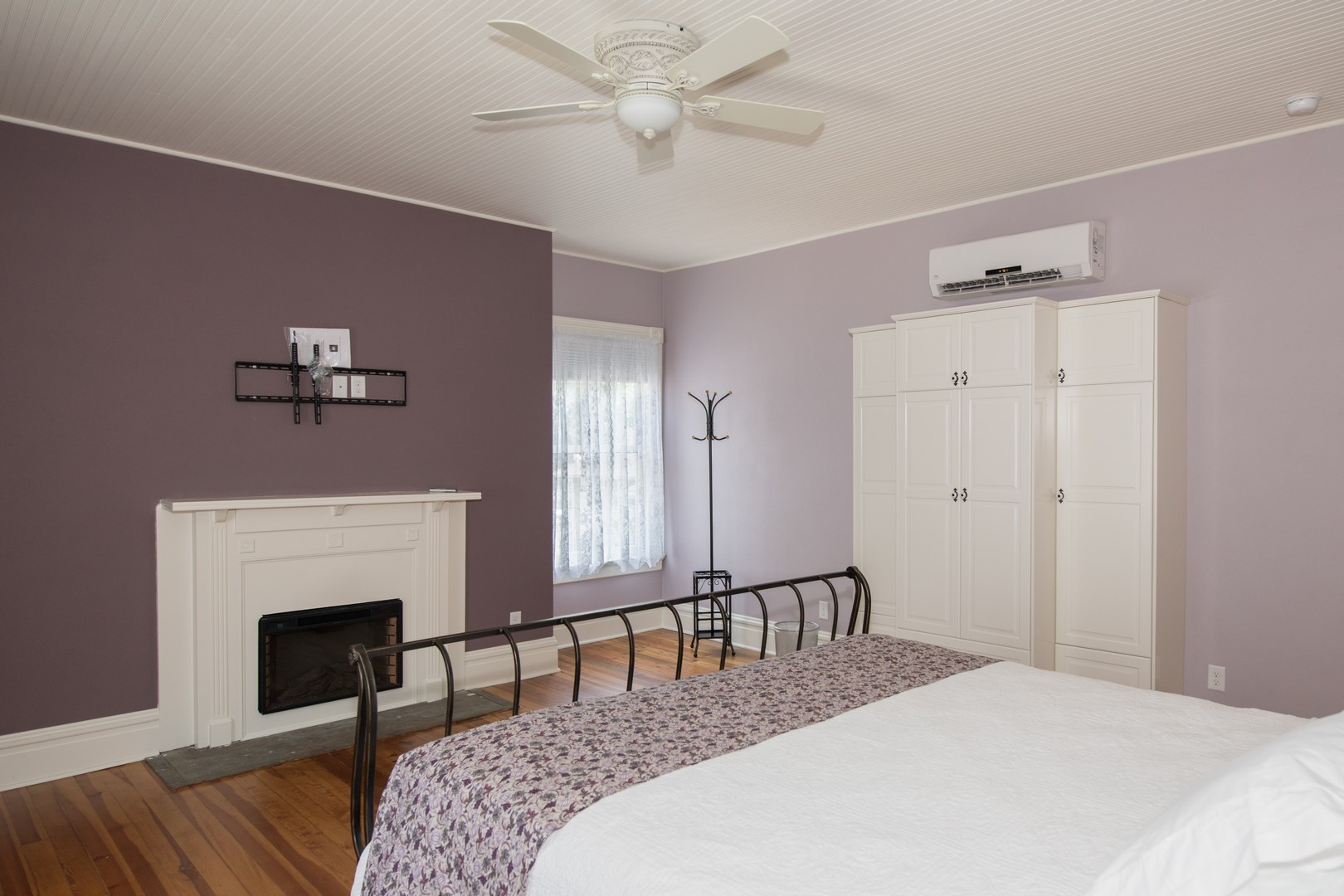 The Lilac guest room with a king bed.